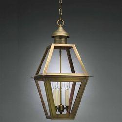 Northeast Lantern Hanging Verdi Gris 3 Candelabra Sockets Seedy Marine Glass 1012