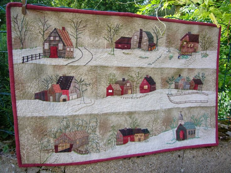 BusyBeeFree: Yoko Saito applique quilt finished