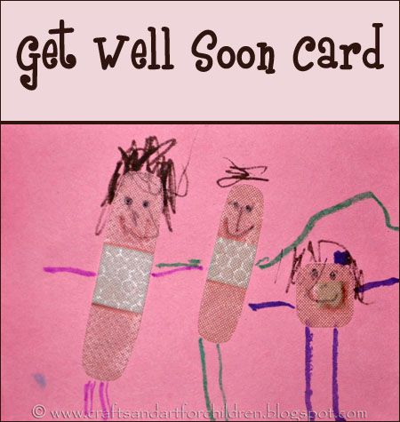 Kid Made Get Well Card
