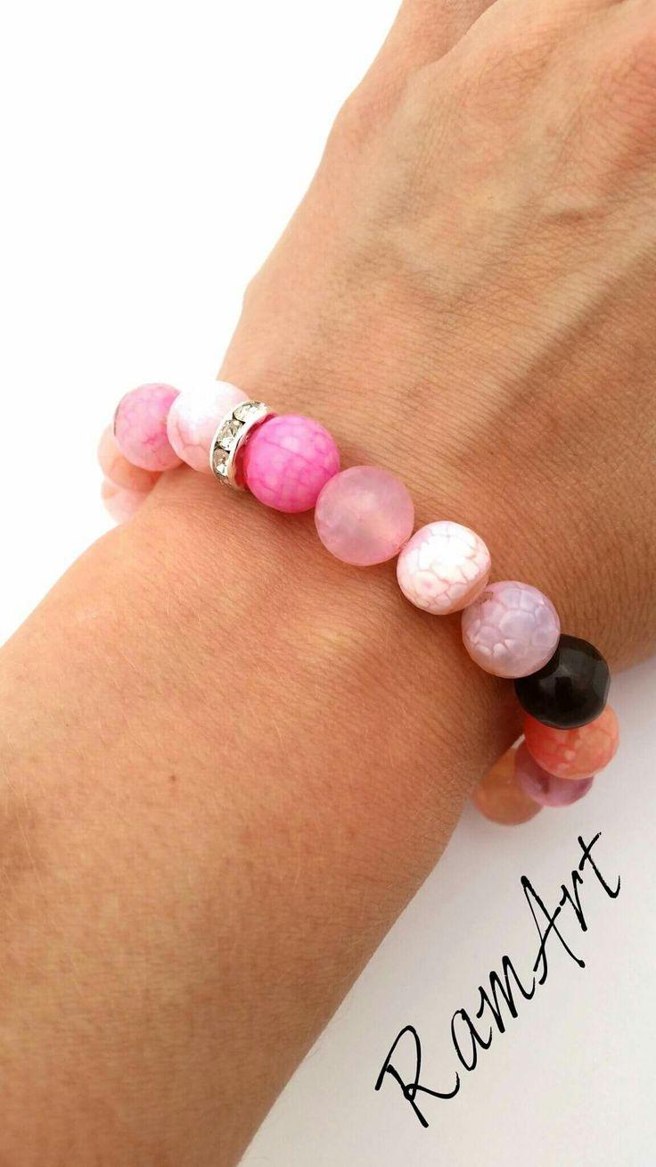 Bransoletka z agatów  #ramart #bransoletka #bracelet #handmade #forsale #agat