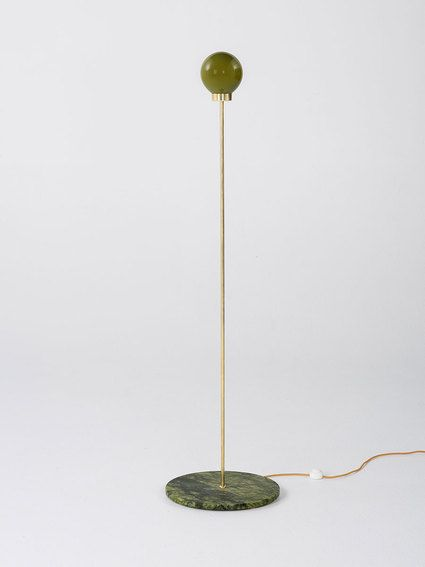 PARE Floor Lamp 01 - Bronze Green Glass and Verde Marble