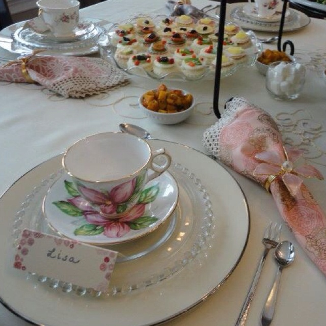 Vintage tea party birthday. -photo by L. Marino