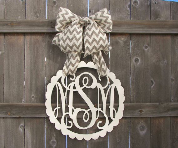 Custom Monogram Initial Letter In Vintage Frame Door Hanger Nursery Decor Wall Hanging Mother S