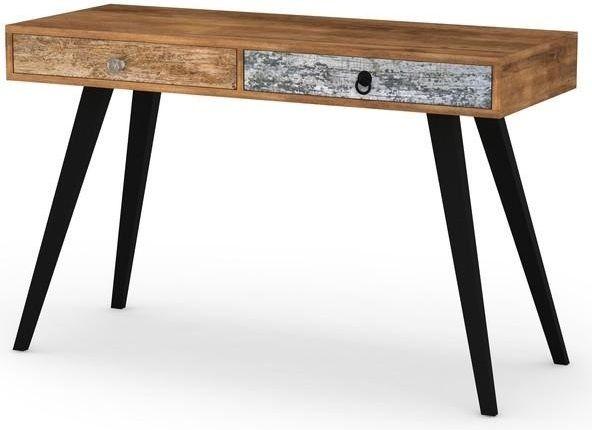 Köp - 1195kr! Mezzopia Skrivbord - Vintage. Ett skrivbord med två praktiska förvaringslådor. Svarta metallben med stomme