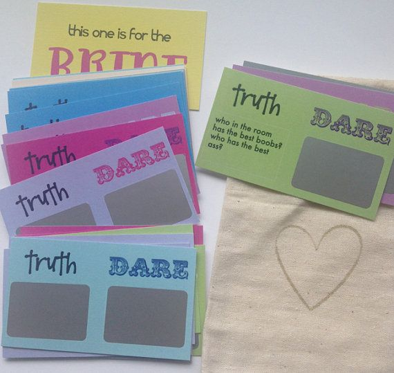 24 Truth or Dare Scratchoff Cards Bachelorette by GoldTinselShop