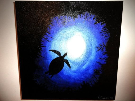 12 x 12 Sea Turtle by courtneydevore on Etsy, $30.00