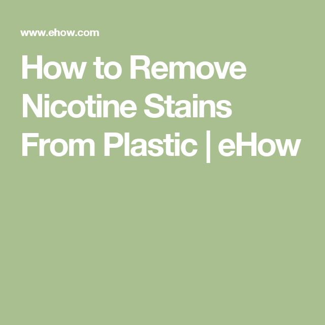 How to remove nicotine stains from plastic stains how for How to get spaghetti sauce out of a white shirt