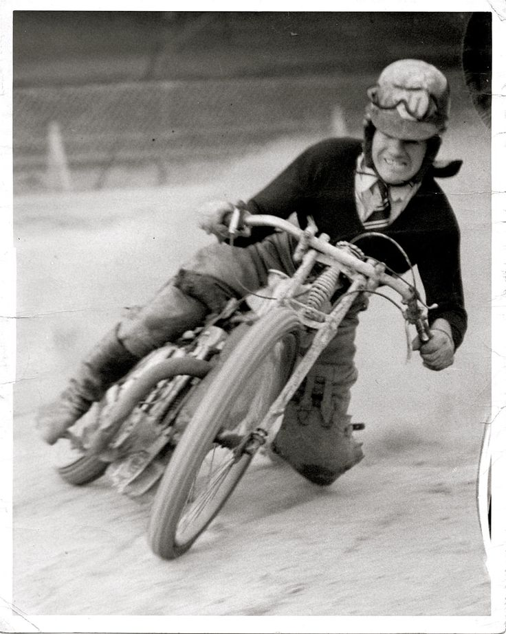 Famous Motorcycle Rider, Putt  Mossman- Bought his first motorcycle and as they say, that was that!
