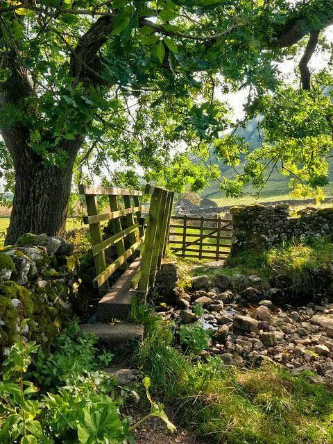 The Dales Way - an 84-mile long  footpath in northern England - from Ilkley, West Yorkshire to Bowness-on-Windermere, Cumbria, England