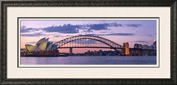 Opera House and Harbour Bridge, Sydney, New South Wales, Australia Photographic Print by Michele Falzone at Art.com