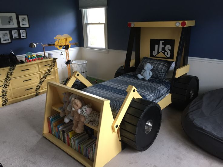 Toddler Truck Bed  https://www.etsy.com/shop/HammerTree   Construction theme bedroom!