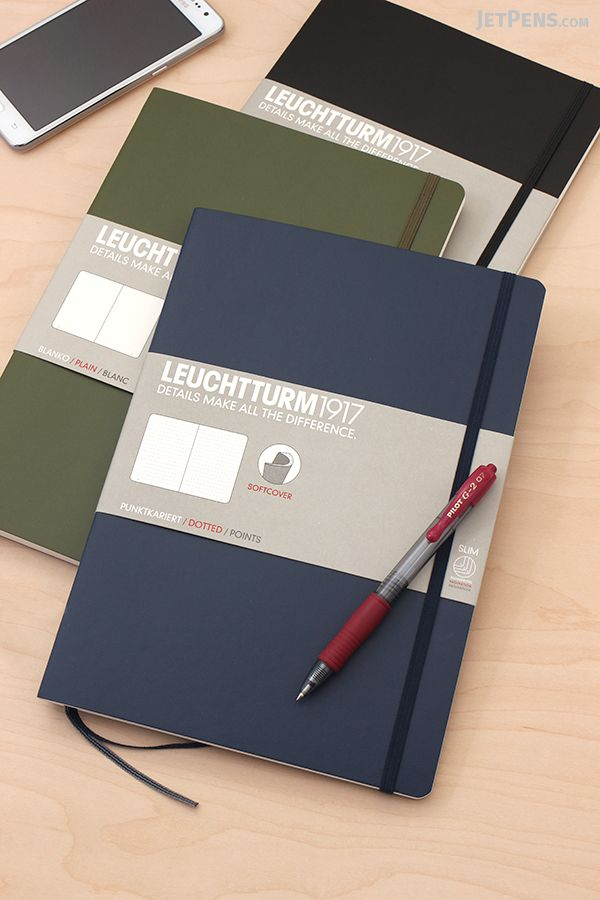 Leuchtturm Composition B5 Notebooks are now available. Use this larger size for brainstorming, doodling, and journaling.