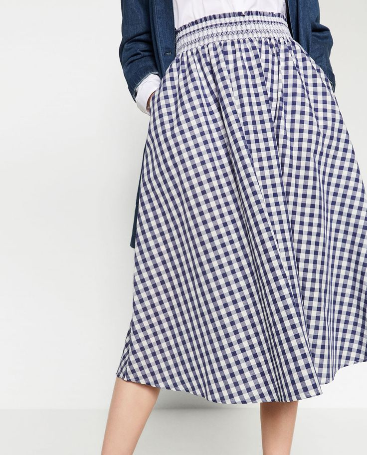 Image 2 of CHECK MINI SKIRT from Zara