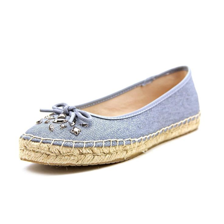 """Style & Co Valorr Women US 8.5 Blue Espadrille. The style name is Valorr. The style number is VALORR-DEN. Brand Color: Denim (Main Color: Blue). Material: Canvas. Measurements: 0.25"""" heel. Width: B(M)."""