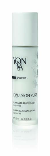 Yon-Ka Emulsion Pure 50 ml £39.00  Designed for problem skin of all ages and those with occasional breakouts, Yon-Ka Emulsion Pure is an alcohol-free oil that offers amazing anti-inflammatory and rejuvenating properties. Zaps any blemishes and increases the skin's natural immunity to acne. Additional benefits include soothing superficial burns and insect bites.