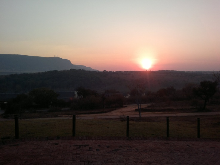 Winter sunrise at Askari Lodge, Magaliesburg, SA