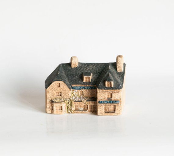 Vintage Ceramic House Pottery House Miniature House Ceramic Figurine Ceramic Home Decor House Mini House Gift Home Small Gift England Home Pottery Houses House Gifts Vintage Ceramic