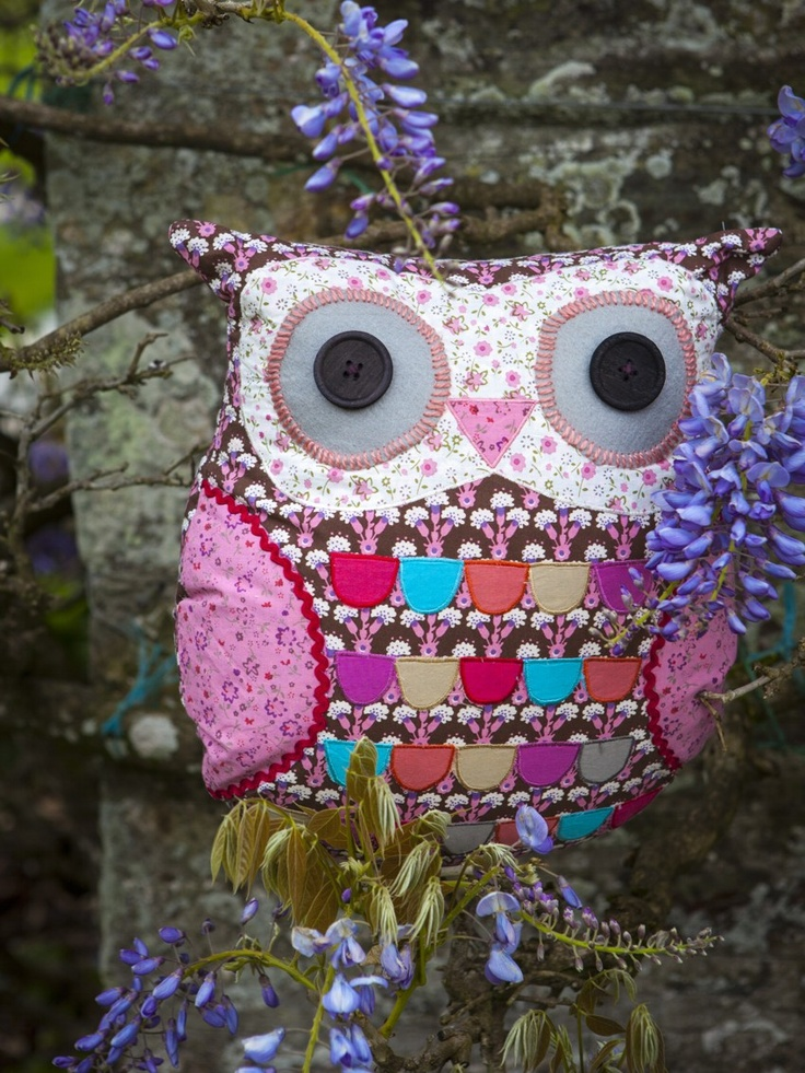 Our Emmeline Brown owl cushion £16.25