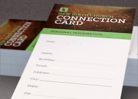 growing church connection card by loswl on  creativemarket