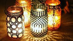Artesanato Casa e Dicas: Aprenda a fazer lanternas marroquinas com frascos ...
