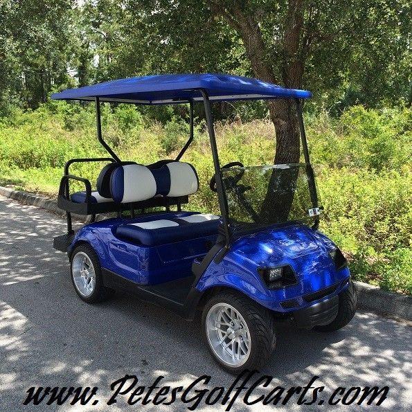 Yamaha Custom Yamaha Drive Golf Cart Electric Golfcart Electric Blue Yamaha Brand Yamaha Golf Carts Riding Gear
