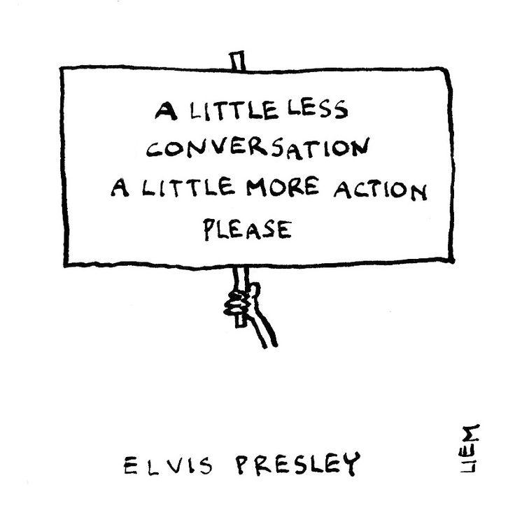 Elvis Presley. A Little Less Conversation. 365 illustrated lyrics project, Brigitte Liem.