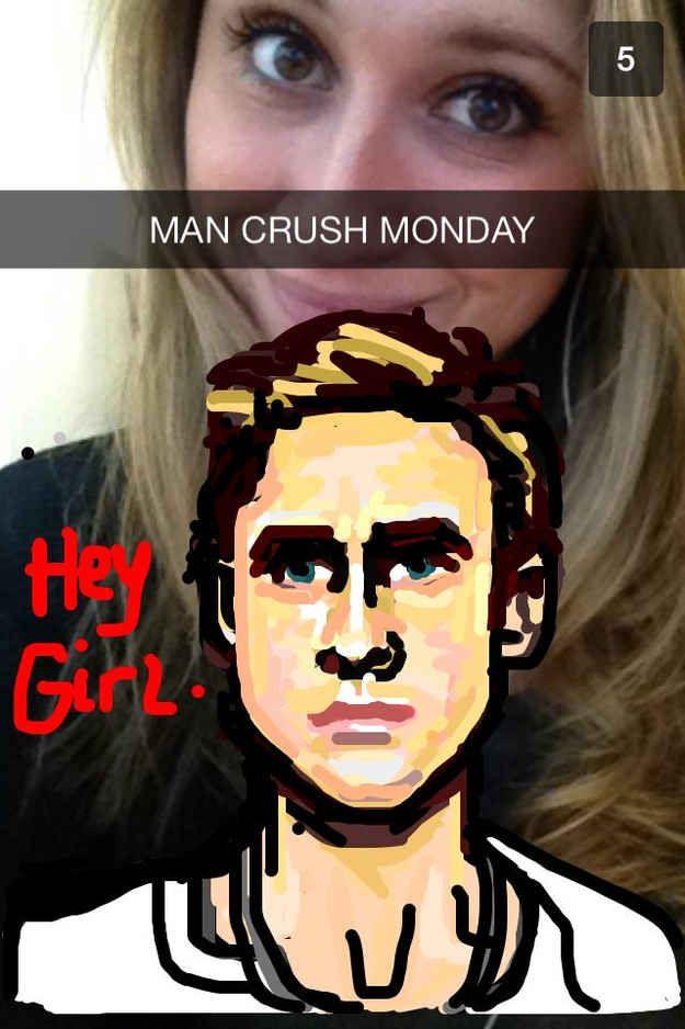 Funny Man Crush Monday Meme : Best snapchat art images on pinterest