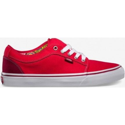Vans Chukka Low Skate Shoes - Bright red