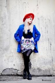 Blue Notch Lapel Coat