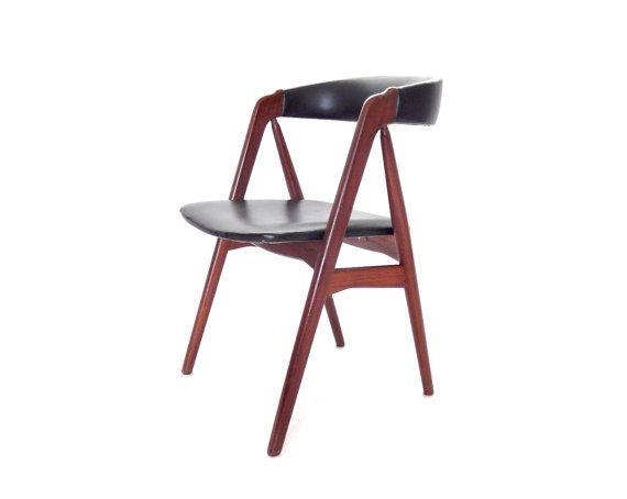 Mid century modern kai kristiansen rosewood and black - Kai kristiansen chair ...