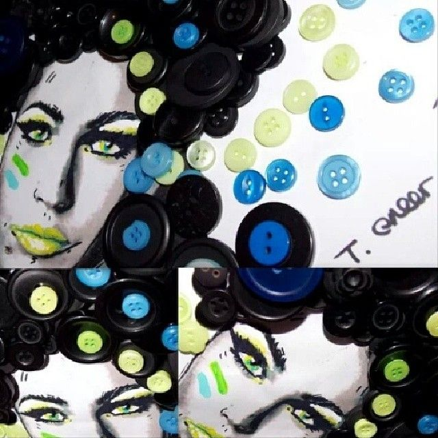 'Button Fox' #maganfox #fox #hollywood #actress #star #transformers #art #artist #buttons #popart #beautiful #tracygreerartist