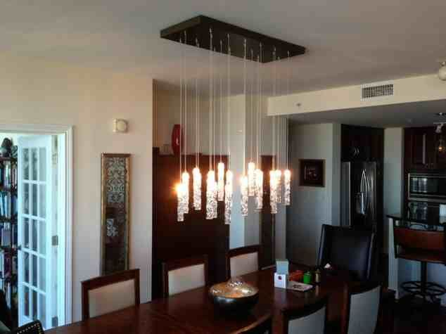 Modern Glass Chandeliers For Dining Room