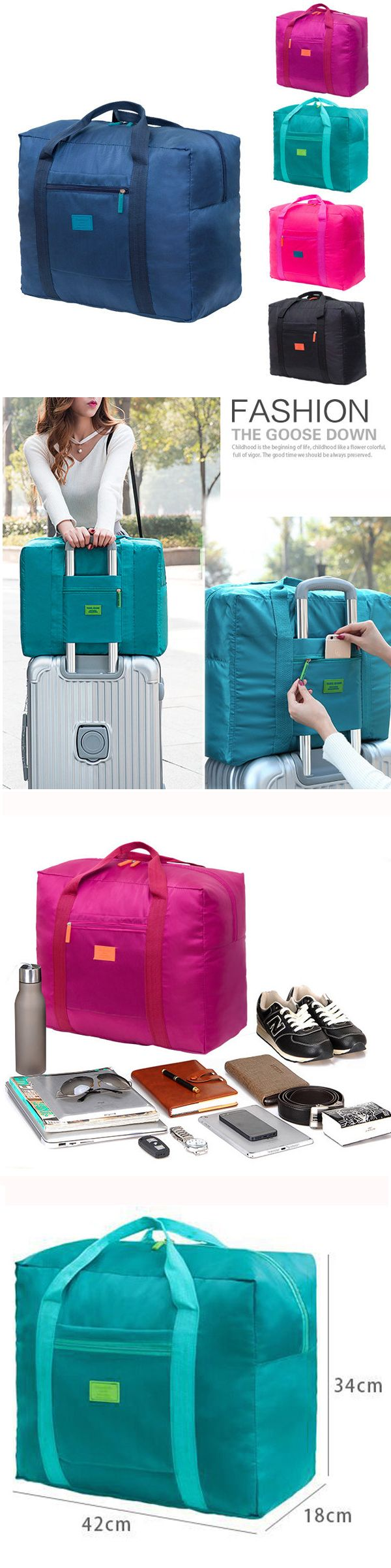 US$6.89  Women Nylon Travel Bag Outdoor Must-have Organizer Storage Bag High-end Luggage Bag