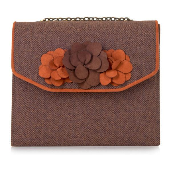Ruby Shoo Oslo Brown Clutch Bag ❤ liked on Polyvore featuring bags, handbags, clutches, brown purse, brown clutches, ruby shoo and brown handbags