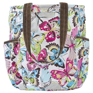 Thirty-One 31 RETRO Metro BAG Purse TOTE Flutter BUTTERFLY Hobo NEW! FREE SHIP!!