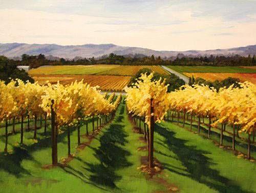 Abstract Vineyard Paintings Vineyard Painting 091