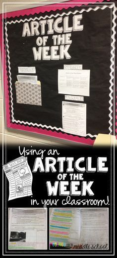 Musings from the Middle School: Article of the Week Editable articles can be made to work for any grade.