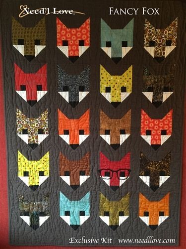 Fancy FOX Quilt Kit from Need'l Love using the Elizabeth Hartman pattern.