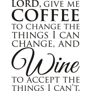 Design on Style 'Lord, Give Me Coffee' Black Vinyl Art Quote - Free Shipping On Orders Over $45 - Overstock.com - 16055202 - Mobile