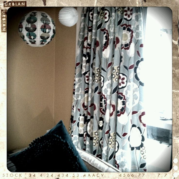Home made curtains, done.