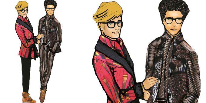 A Pitti Uomo la stilista Stella Jean porta una collezione maschile che rilegge con una sovversiva allegoria dell'imperialismo britannico ed il dandy modernohttp://www.sfilate.it/215715/per-stella-jean-la-moda-maschile-e-multiculturalita