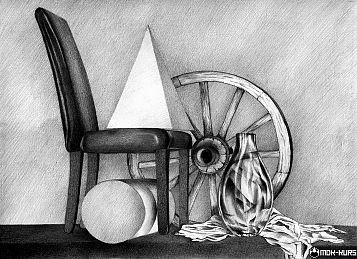 martwa natura ołówkiem