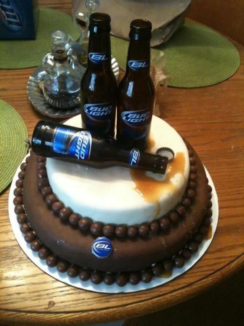 Bud light birthday cake! Perfect for a guy's 21st