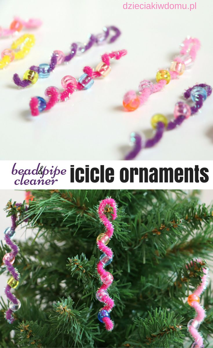 bead and pipe cleaner icicle ornament