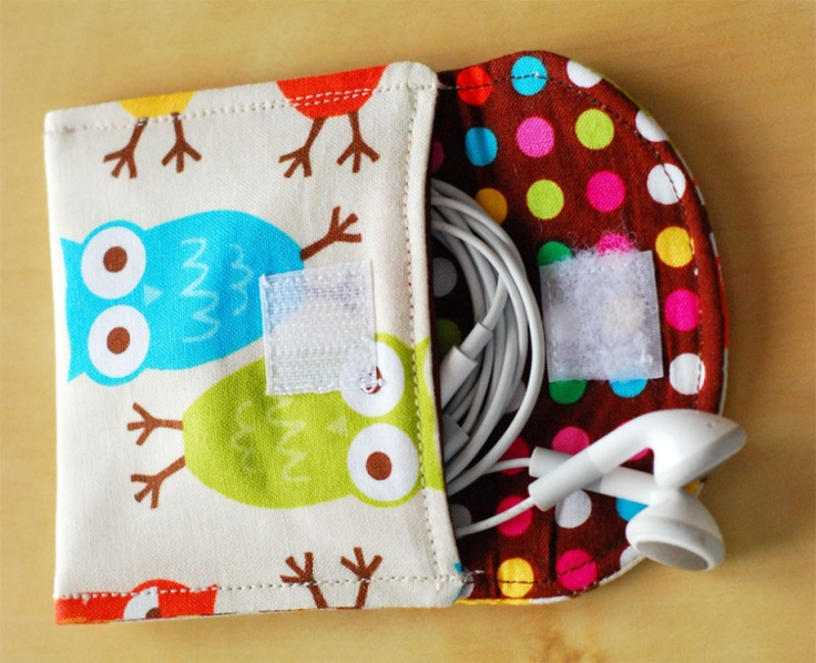 Earbud Pouch: Phone Charger, Ideas, Craft, Sewing Projects, Ipod, Sewing Patterns