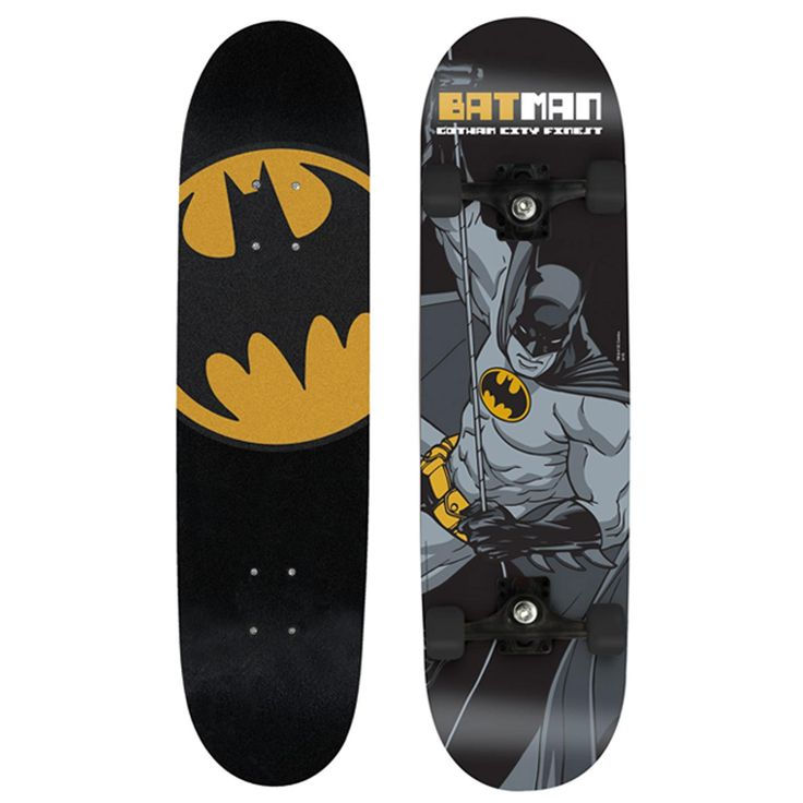 Batman Skateboard. Sweet batman logotype! I like the variety in the different sides of the board!