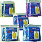 #7: Disposable Rain Ponchos Samhe Universal Size With Hood Five Different colors (10packs 20packs)