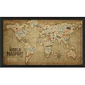 Found it at Wayfair - The World Passport Map Framed Graphic Art
