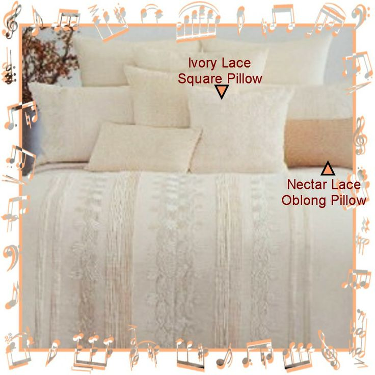 donna karan black label crystalline bed lace throw pillows in nectar u0026 ivory already listed
