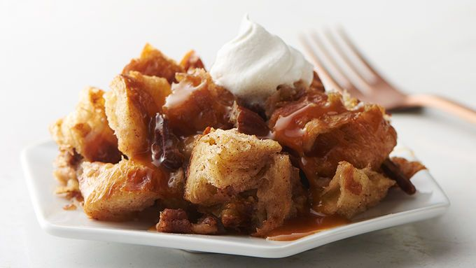 Sorry, regular bread pudding, we've found a better way. It starts with buttery croissants and ends with a divine butter and bourbon sauce you'll want to put on absolutely everything (go ahead, we're not here to judge).